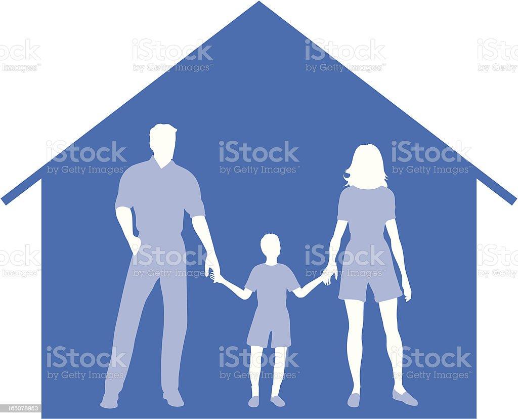 Family home. royalty-free stock vector art