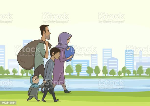 Family homeless or refugees a man and a woman with children in the vector id912849864?b=1&k=6&m=912849864&s=612x612&h=xp0qkafxo2gpswra5 mhza3kx9dlo78agdak9lchpew=