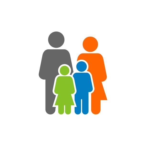 ilustrações de stock, clip art, desenhos animados e ícones de family human figure logo template illustration design. vector eps 10. - familia