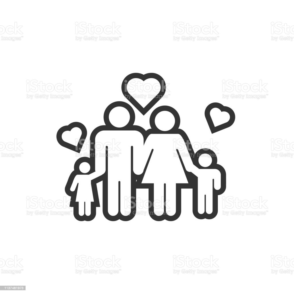 Family icon design template vector illustration vector art illustration