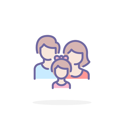 Family icon in filled outline style.