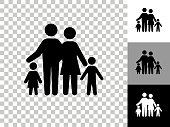 istock Family Icon on Checkerboard Transparent Background 1224090134