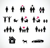 Family icon set vector illustration