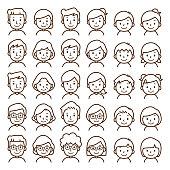 Illustration of family icon.