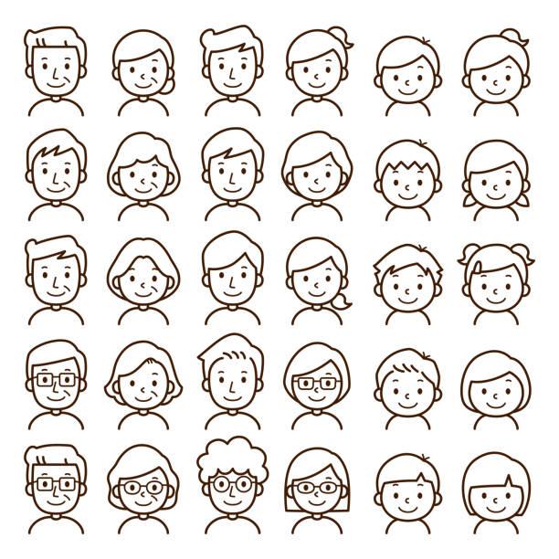 family icon Illustration of family icon. teenage boys stock illustrations