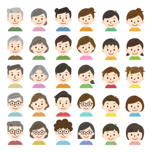 ファミリーアイコン - 家族 日本点のイラスト素材/クリップアート素材/マンガ素材/アイコン素材