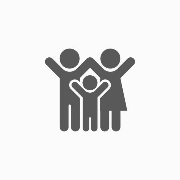 family icon family icon happy family stock illustrations
