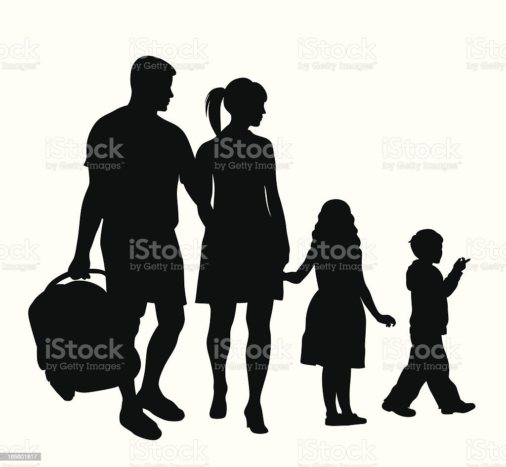 Family Icon Vector Silhouette vector art illustration