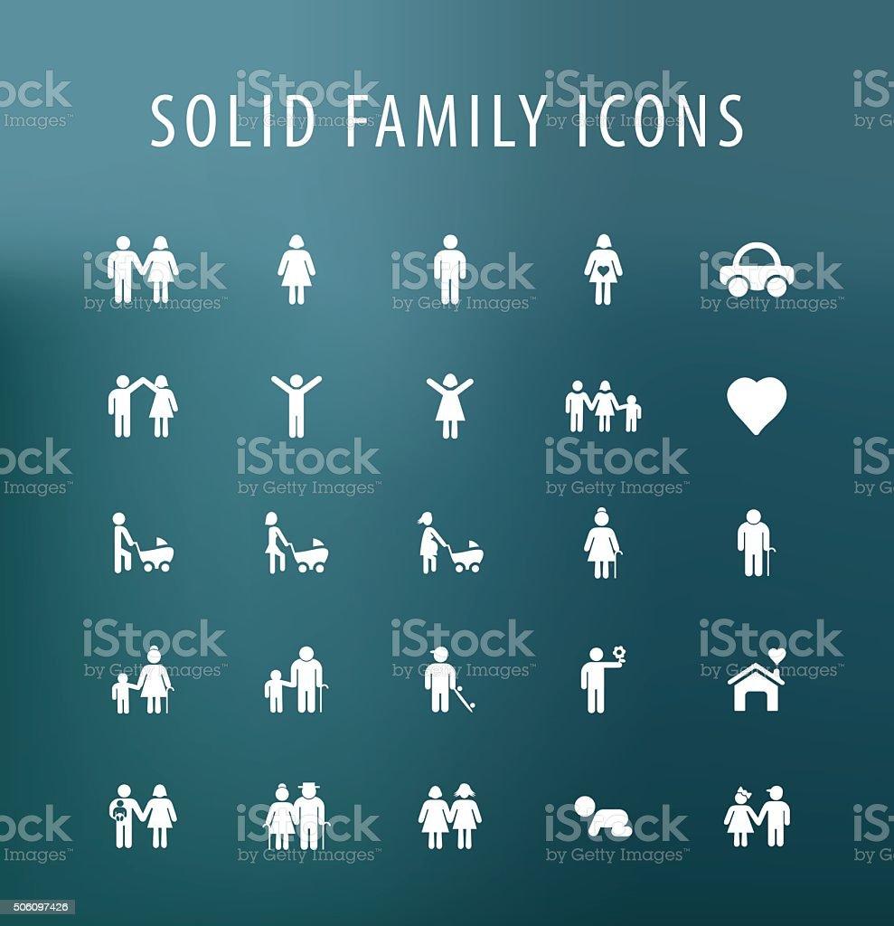Icônes de la famille. - Illustration vectorielle