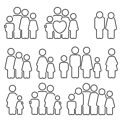 Family icons clipart