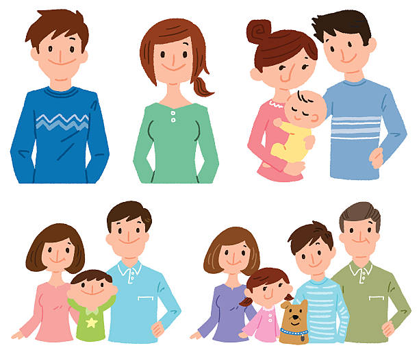 family image vector art illustration