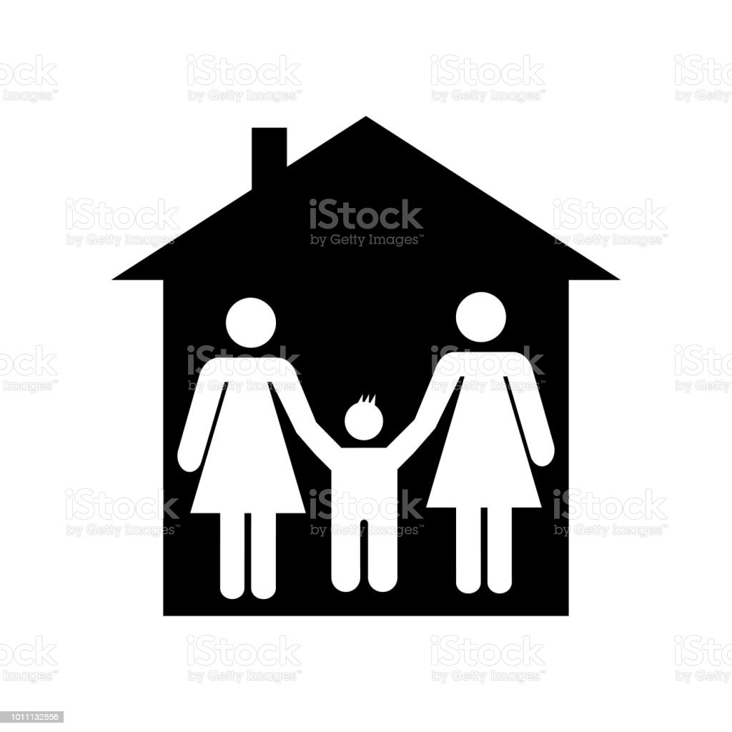 family in home icon vector icon simple element illustration family in home symbol design can be. Black Bedroom Furniture Sets. Home Design Ideas