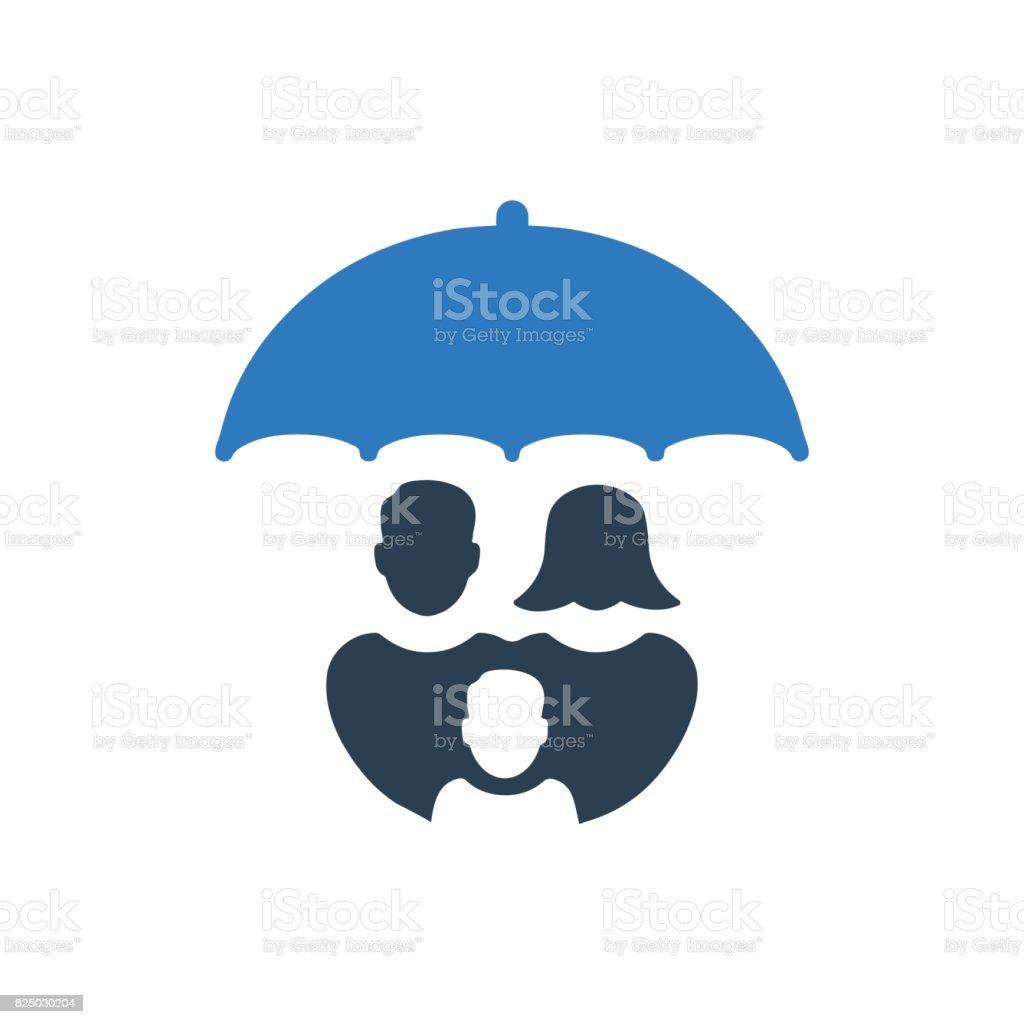 Famille Assurance icône - Illustration vectorielle