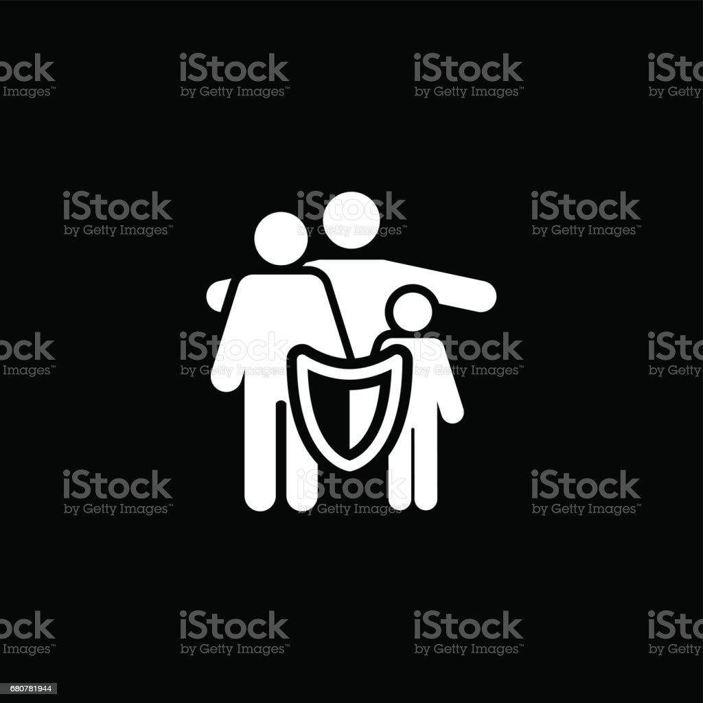 Solutions d'assurance de la famille et l'icône Services - Illustration vectorielle
