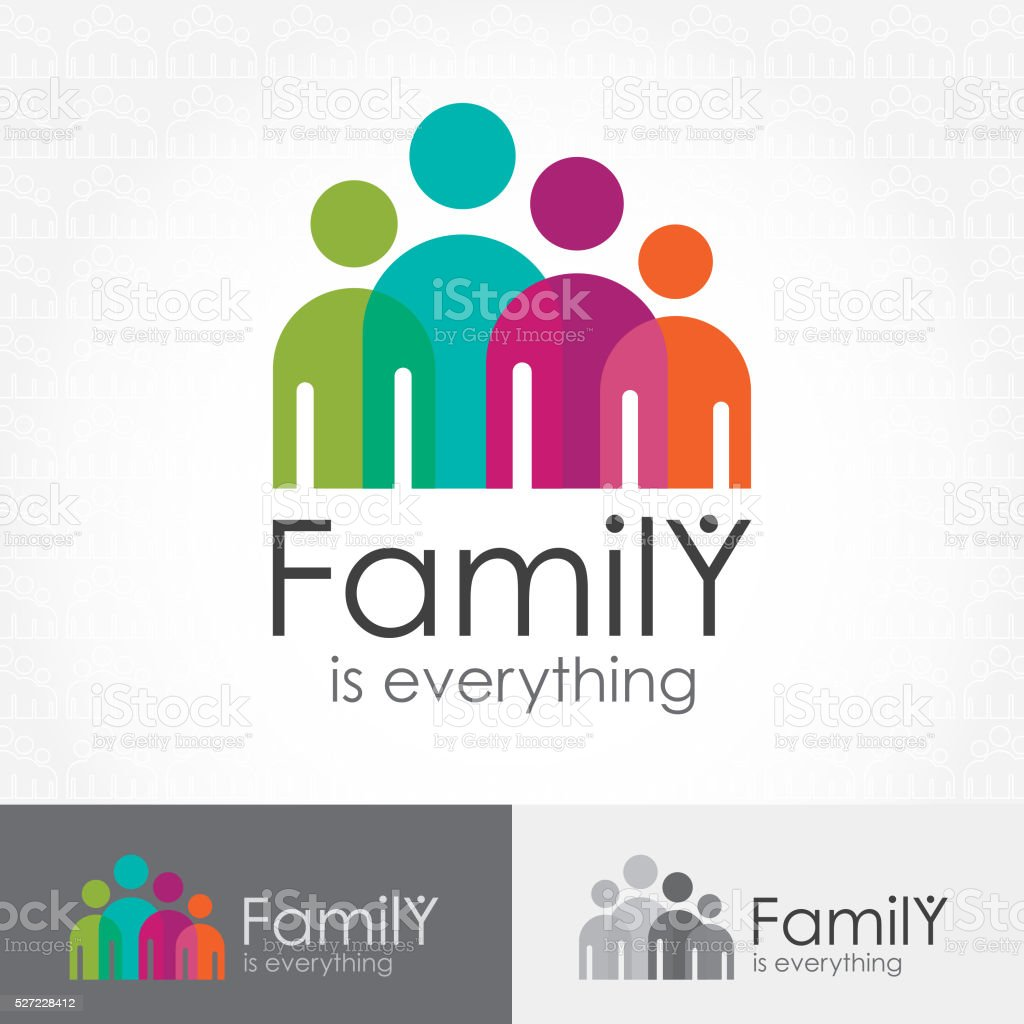 Family Is Everything Icon vector art illustration