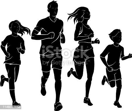 Isolated vector illustration of group or team activity sport and leisure