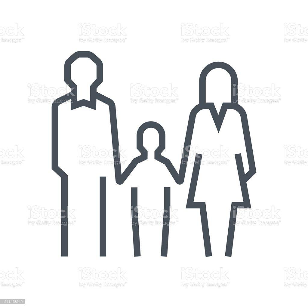 Icône de la famille droit - Illustration vectorielle