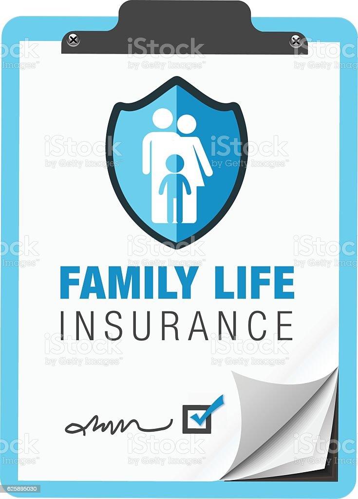 Family Life Insurance - Illustration vectorielle