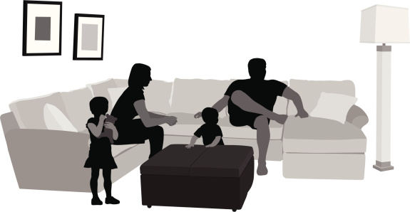Family Life Vector Silhouette
