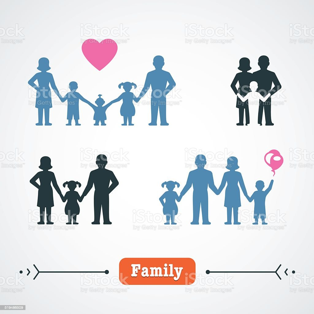 Family Lifestyle vector art illustration