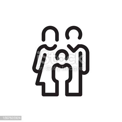 istock Family Line Icon 1207522324