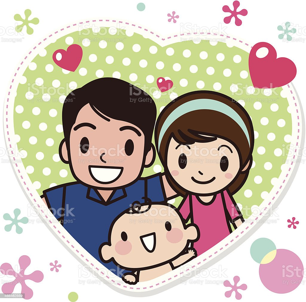 Family Love vector art illustration