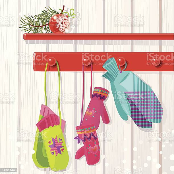 Family Mittens Stock Illustration - Download Image Now