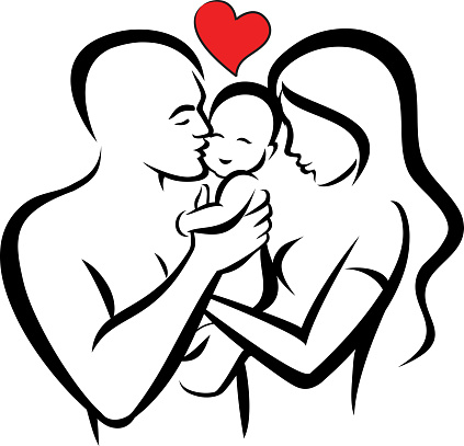 Family - Mom, Dad and Baby