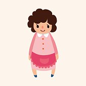 family mother character flat icon elements background,eps10
