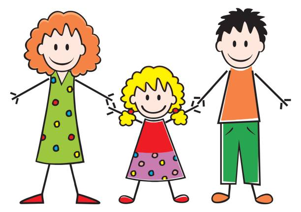 Royalty Free Family With One Child Clip Art, Vector Images ...