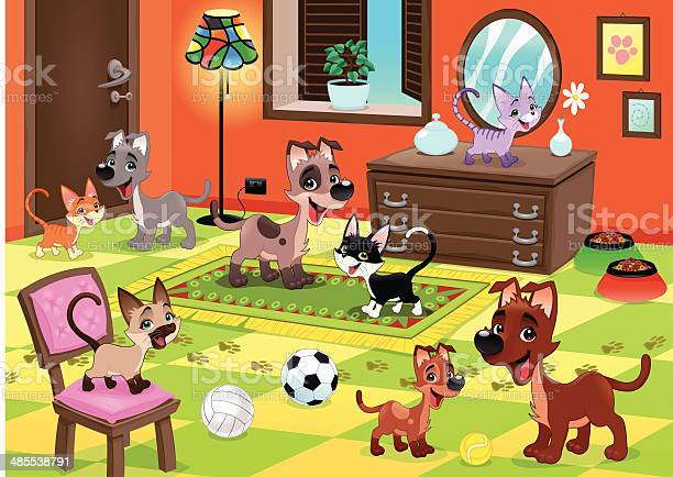 Family of cats and dogs in the house vector id485538791?b=1&k=6&m=485538791&s=612x612&h=nbrojjf9nkouowrkxessft4igj4vlukrfwyf86 qyt4=
