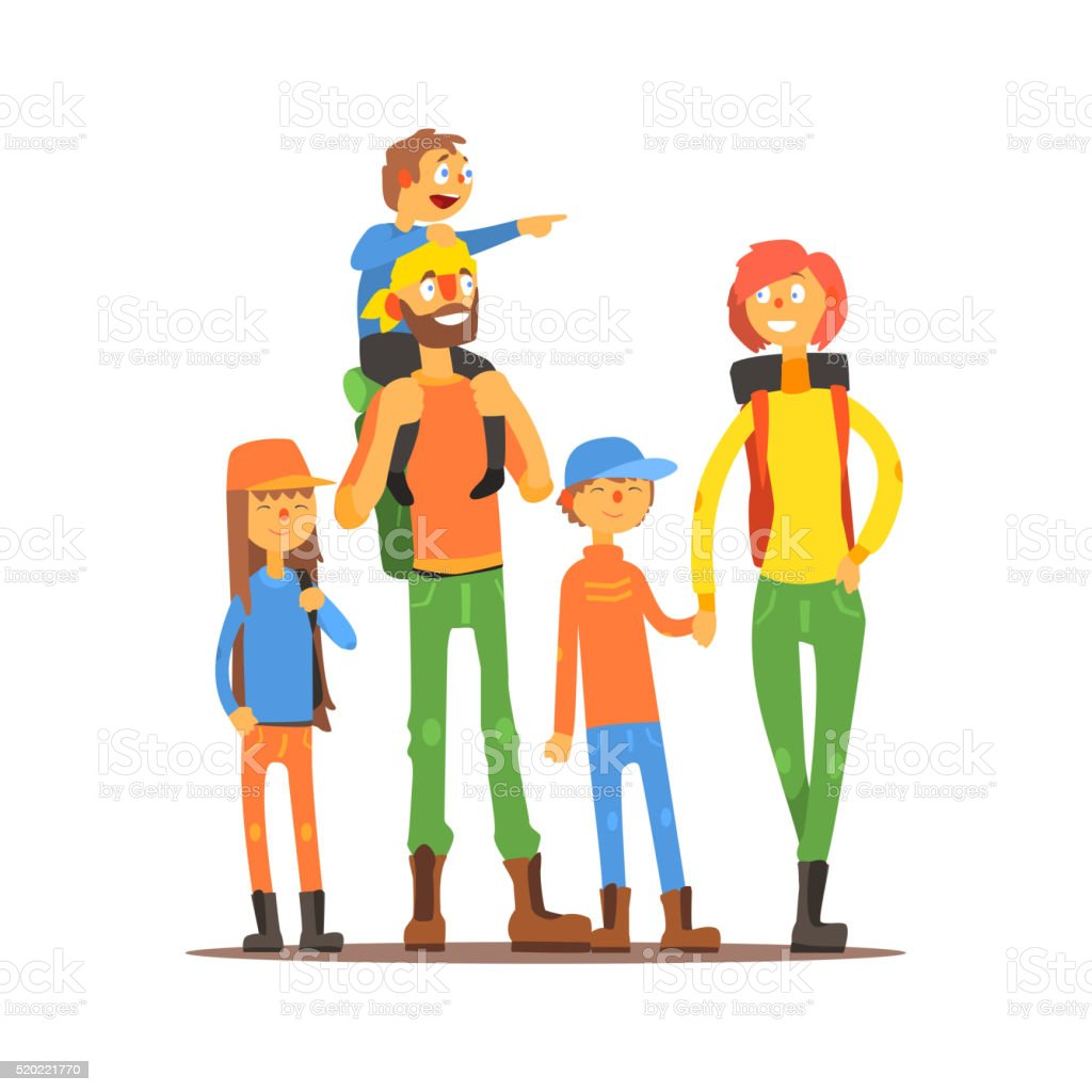 royalty free family hiking clip art vector images