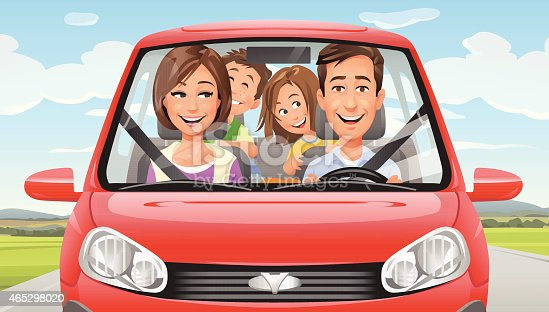 istock Family On A Road Trip 465298020