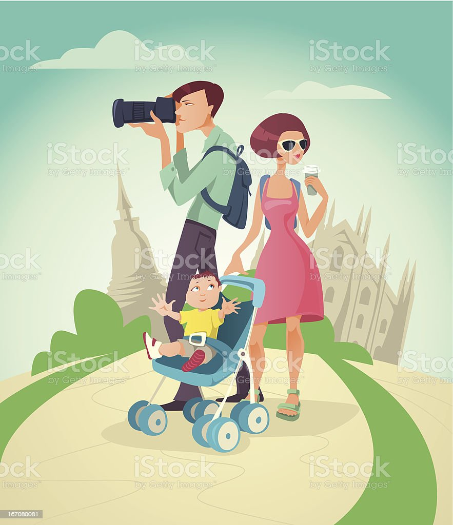 Family on a Vacation royalty-free stock vector art