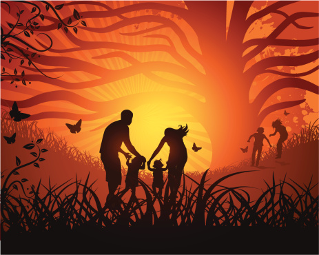 Family on Nature under the Sun