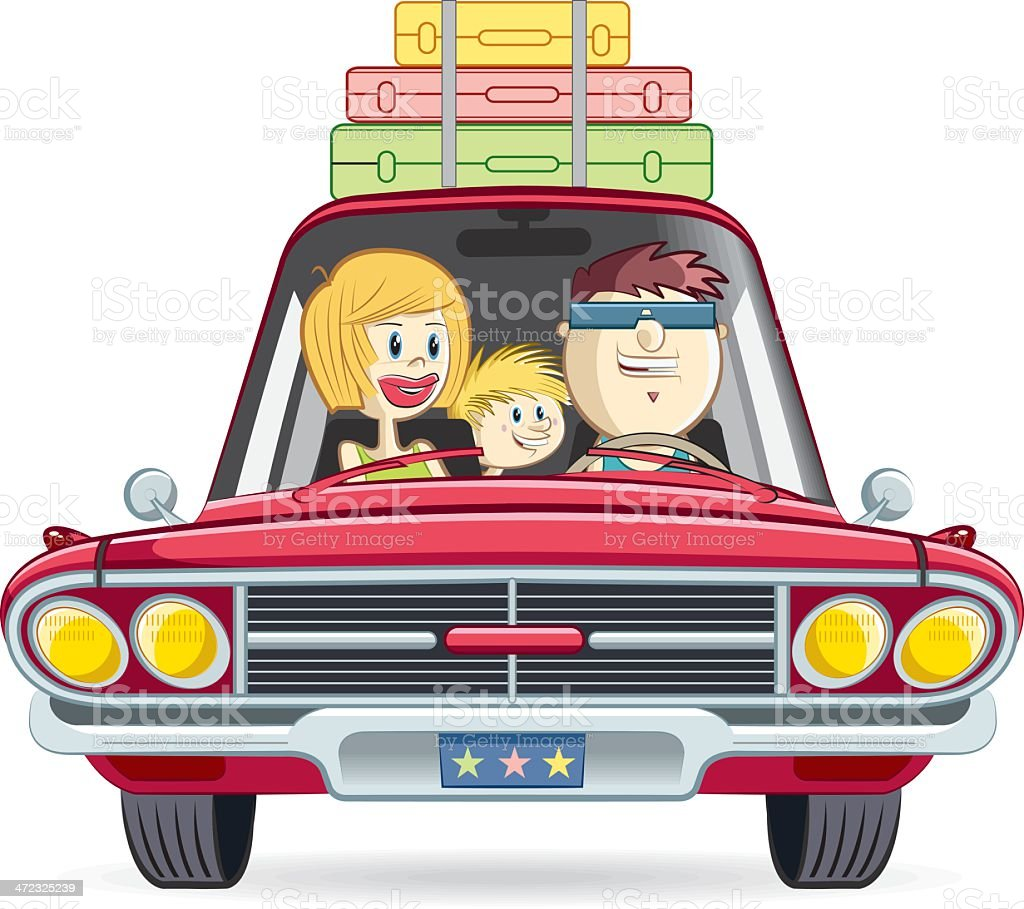family on the way royalty-free stock vector art