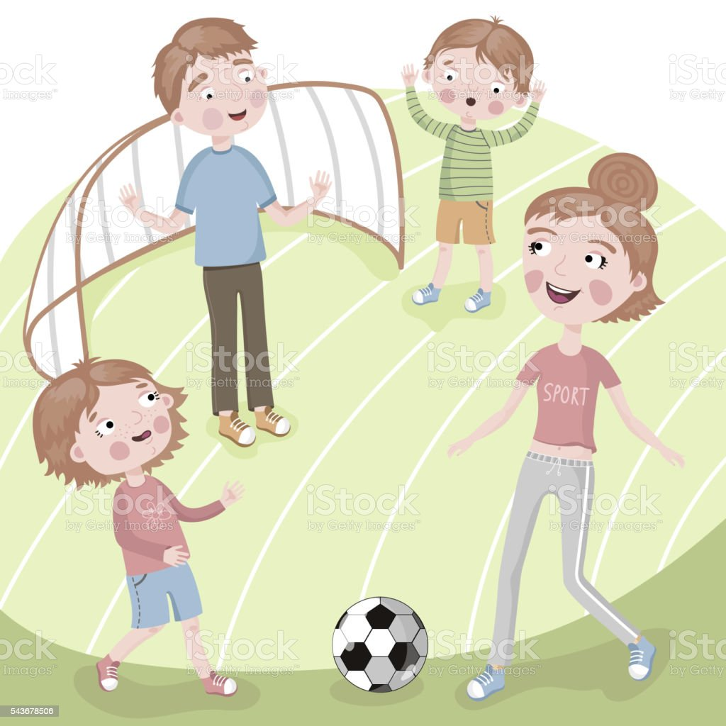 Royalty Free Mom Playing Soccer Clip Art Vector Images