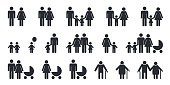Family People Pictogram Set - Vector Illustration