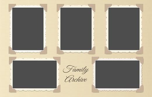 Family photo album collage