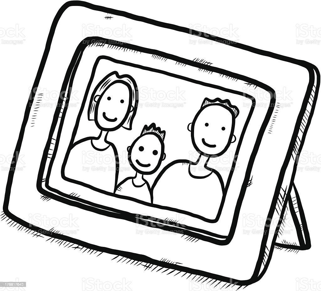 photo dessin de famille stock vecteur libres de droits 178817642 istock. Black Bedroom Furniture Sets. Home Design Ideas