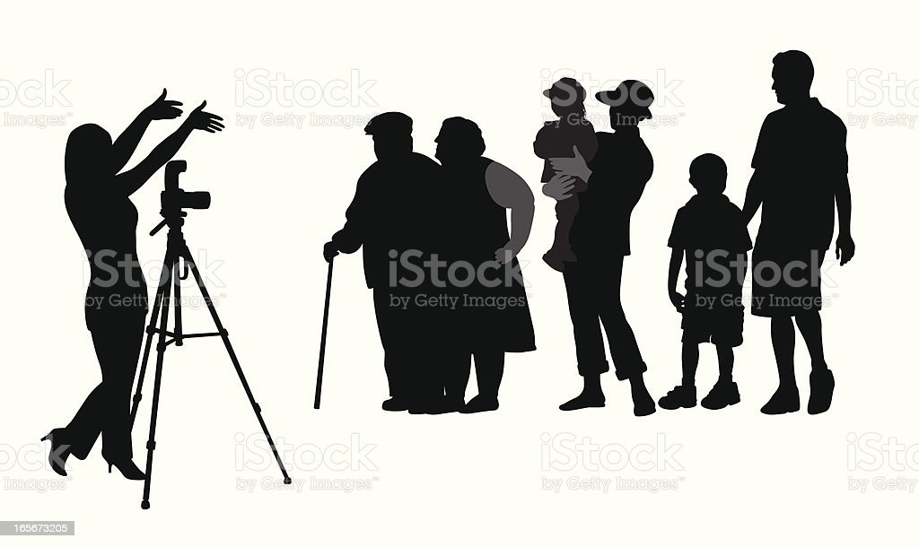 Family Photo Vector Silhouette royalty-free family photo vector silhouette stock vector art & more images of adult