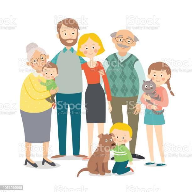 Family portrait big happy multigenerational family together cartoon vector id1061295998?b=1&k=6&m=1061295998&s=612x612&h=q8qlzfu1hdxca1tgbvaon oho kfjtlpahc4ikebmqq=