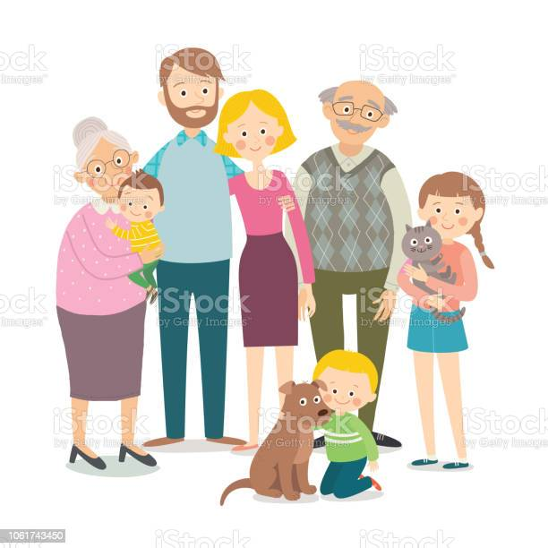 Family portrait parents children grandparents grandchildren hugging vector id1061743450?b=1&k=6&m=1061743450&s=612x612&h=zxvqmn6msnialbkck5yi5lnnj08hi799c7ybnyfj 6e=