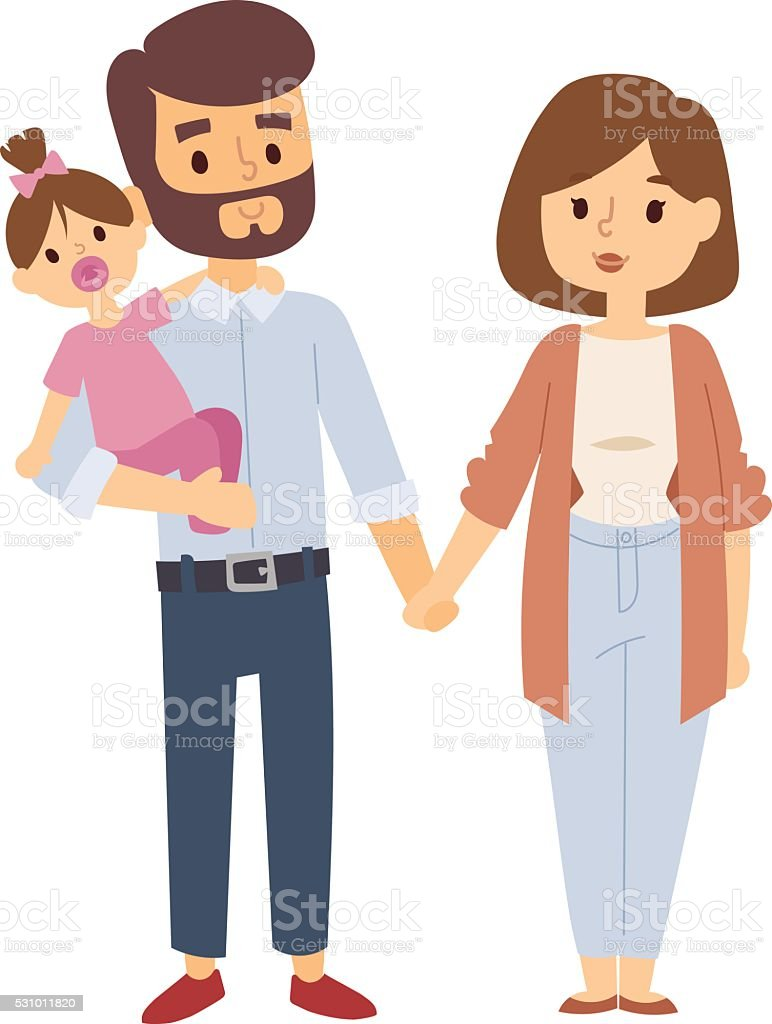 Family portrait vector illustration vector art illustration