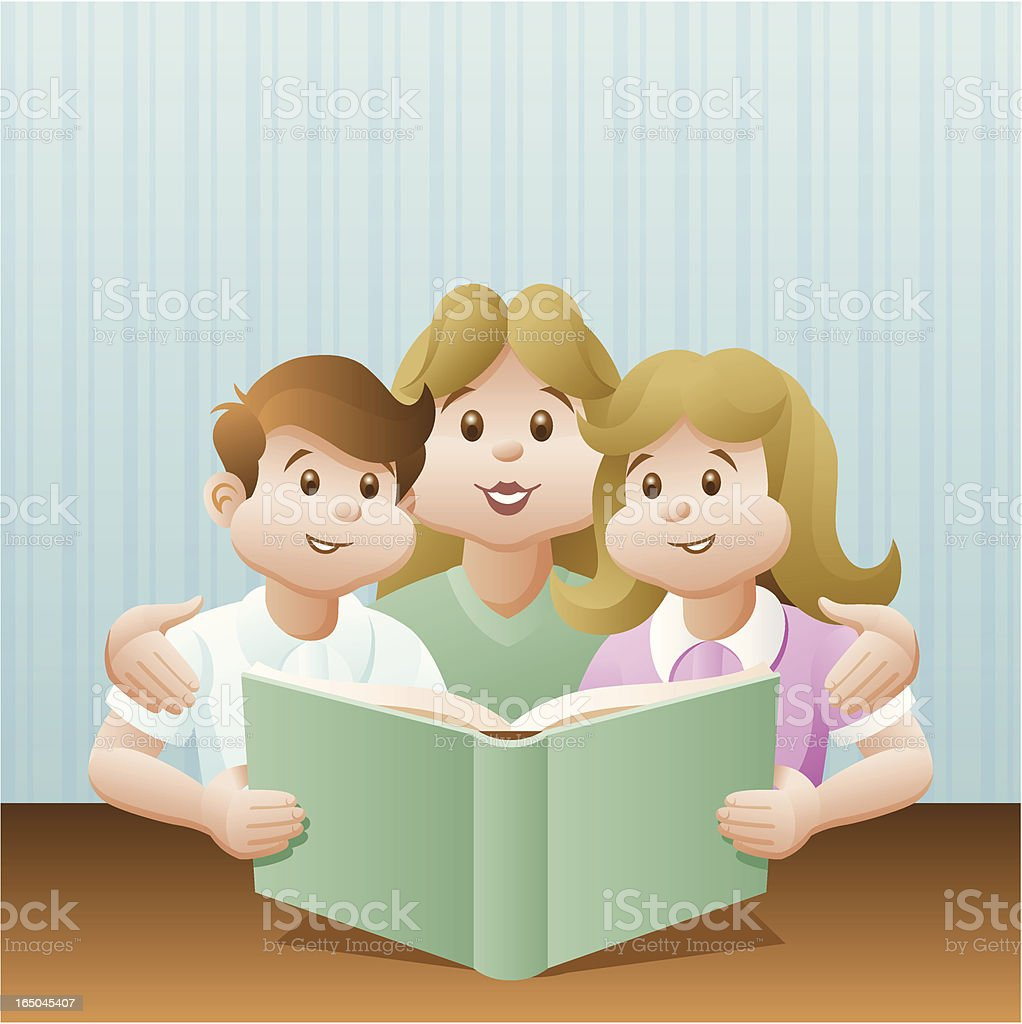 Family Reading royalty-free family reading stock vector art & more images of activity