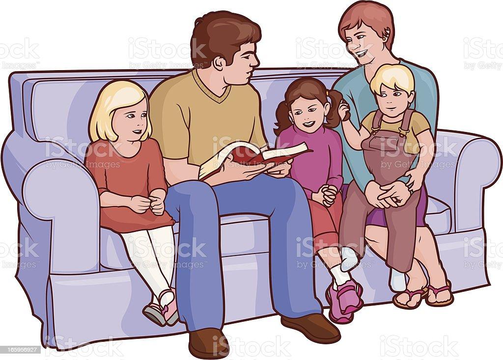 Resultado de imagen para familia leyendo la biblia dibujo