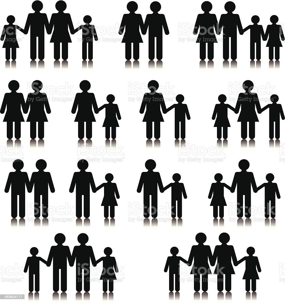 Famille des relations - Illustration vectorielle