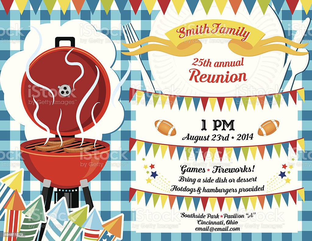 Family reunion bbq invitation template stock vector art more family reunion bbq invitation template royalty free family reunion bbq invitation template stock vector art thecheapjerseys Images
