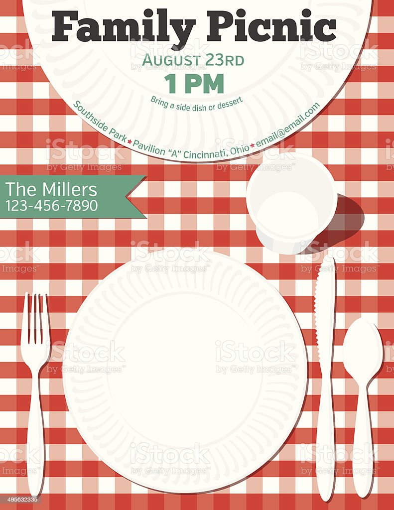 Family Reunion Bbq Invitation Template Stock Vector Art More