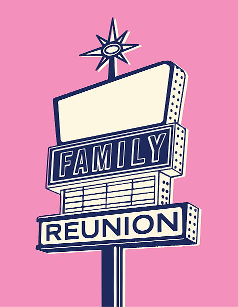 family reunion sign - reunion stock illustrations, clip art, cartoons, & icons